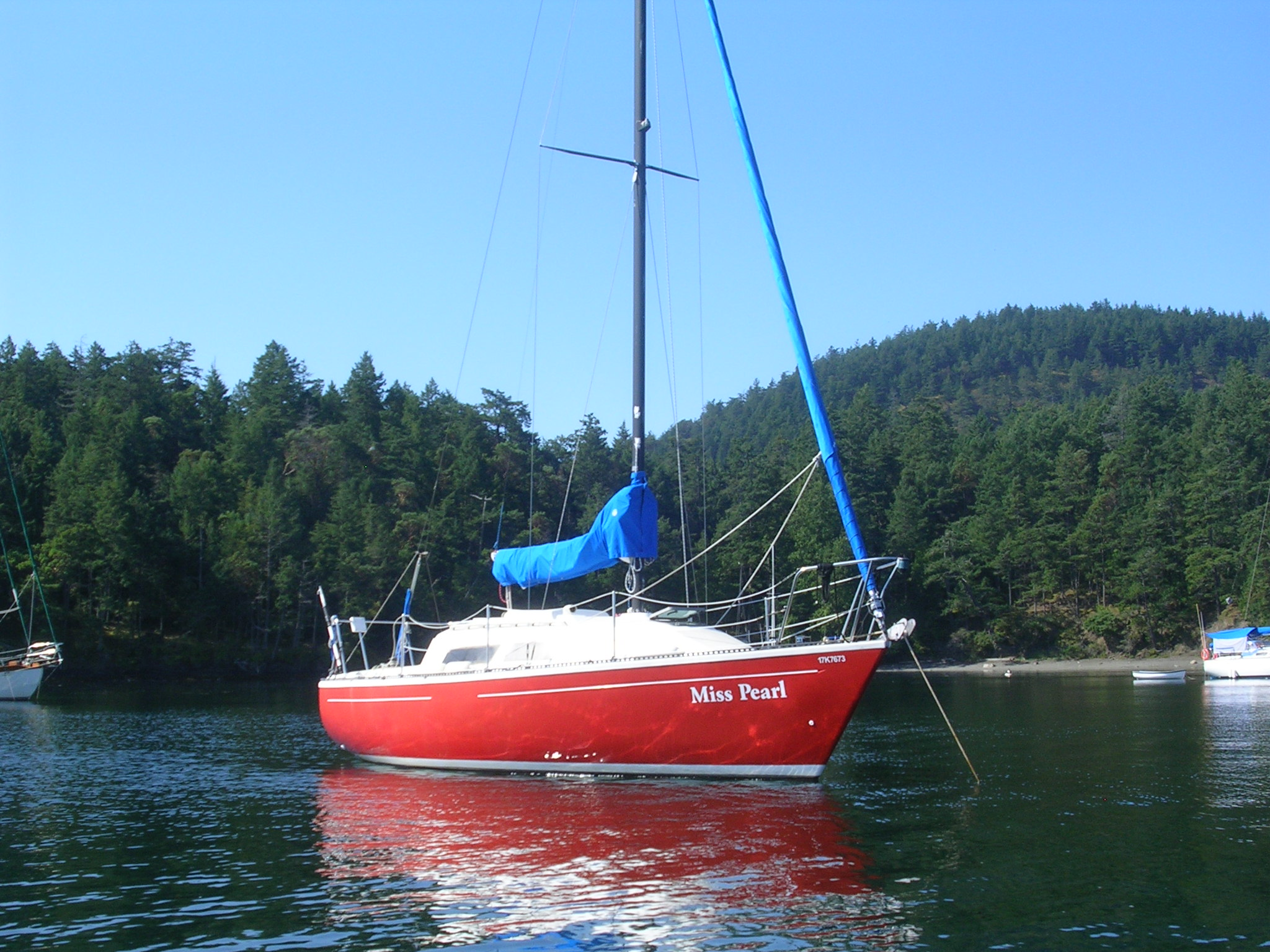 At anchor in the Gulf Islands