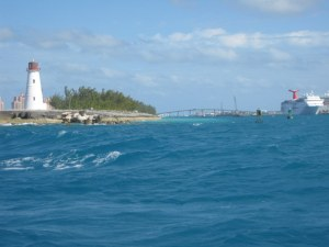 Entering the Nassau Harbour